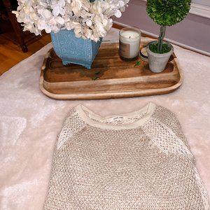 Pink Rose - Beige Knit Sweater